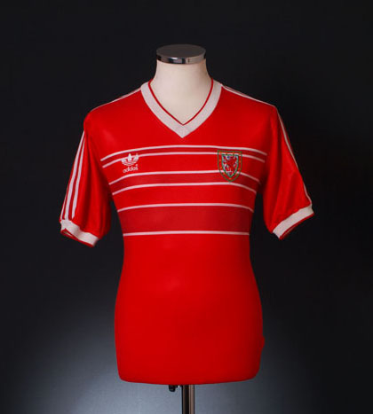 Classic Wales Football Shirt of 1984