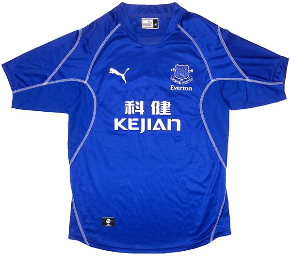 Everton home shirt 2002