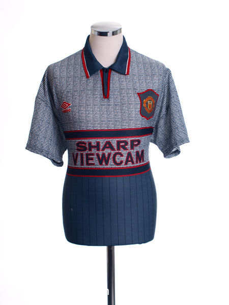 Retro Man United Shirts 1995 grey kit