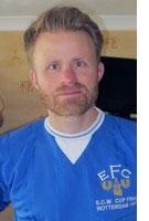 Steve in Everton Kit