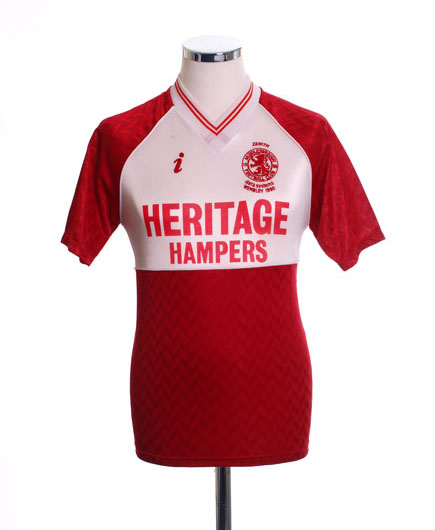 Middlesbrough 1990 home shirt