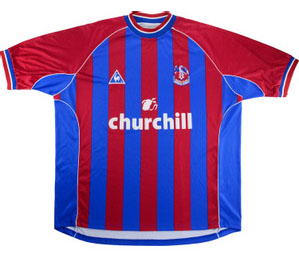 Crystal Palace retro home shirt 2001