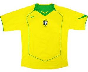 Retro Brazil Home Shirt 2004
