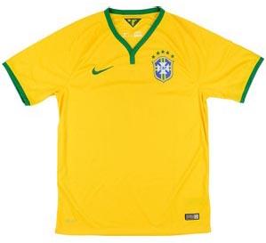 Retro Brazil Home Shirt 2014