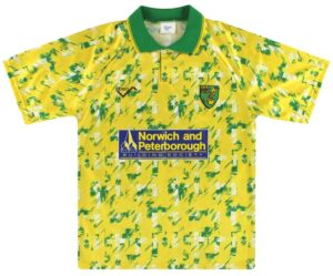 Retro Norwich Home Shirt 1992