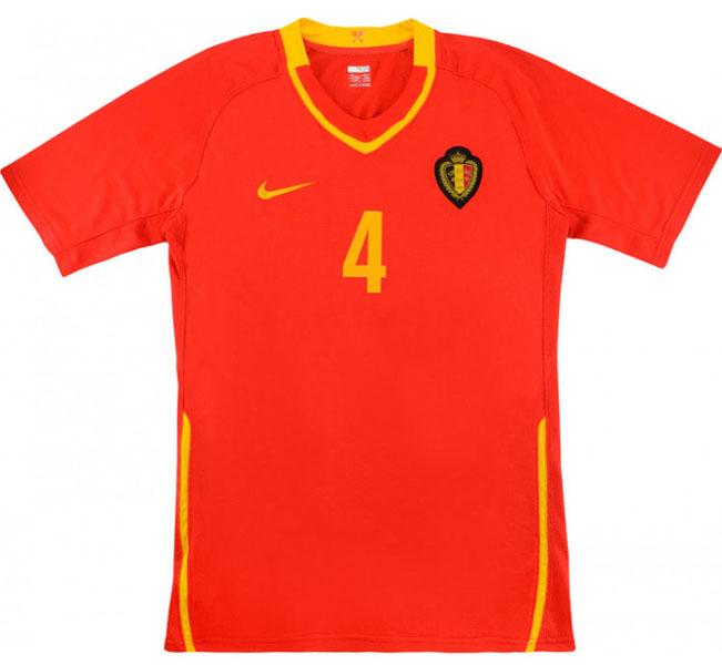 Retro Belgium Match Worn Home Shirt 2008